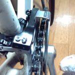 フロントディレイラーの調整箇所の確認