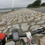葛西臨海公園でマウンテンバイク ガレ場練習