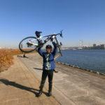 荒川サイクリングロード TT練 50㎞